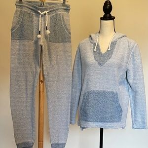 Ocean Drive Blue Hoodie and Jogger Set Sz S